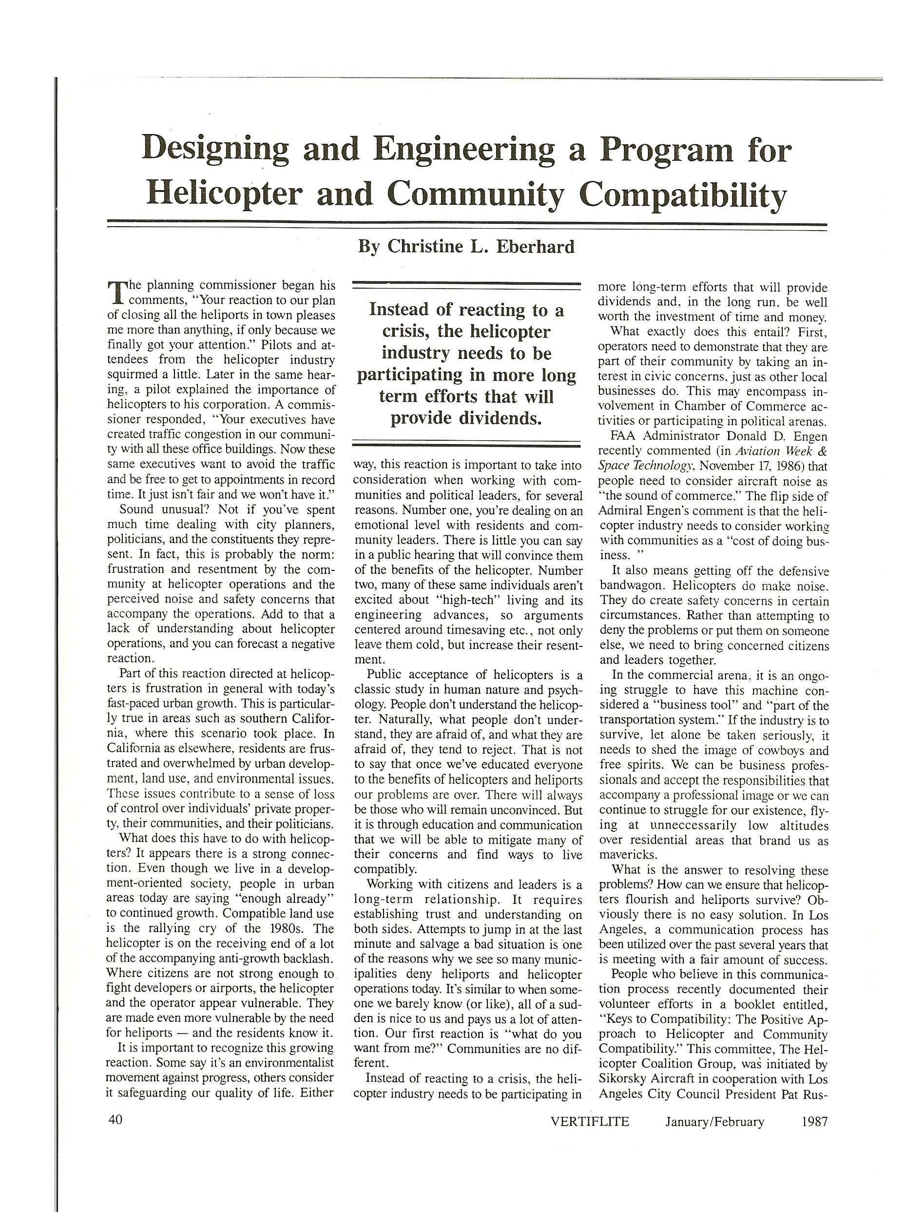 Article on Helo Compatibility page 1