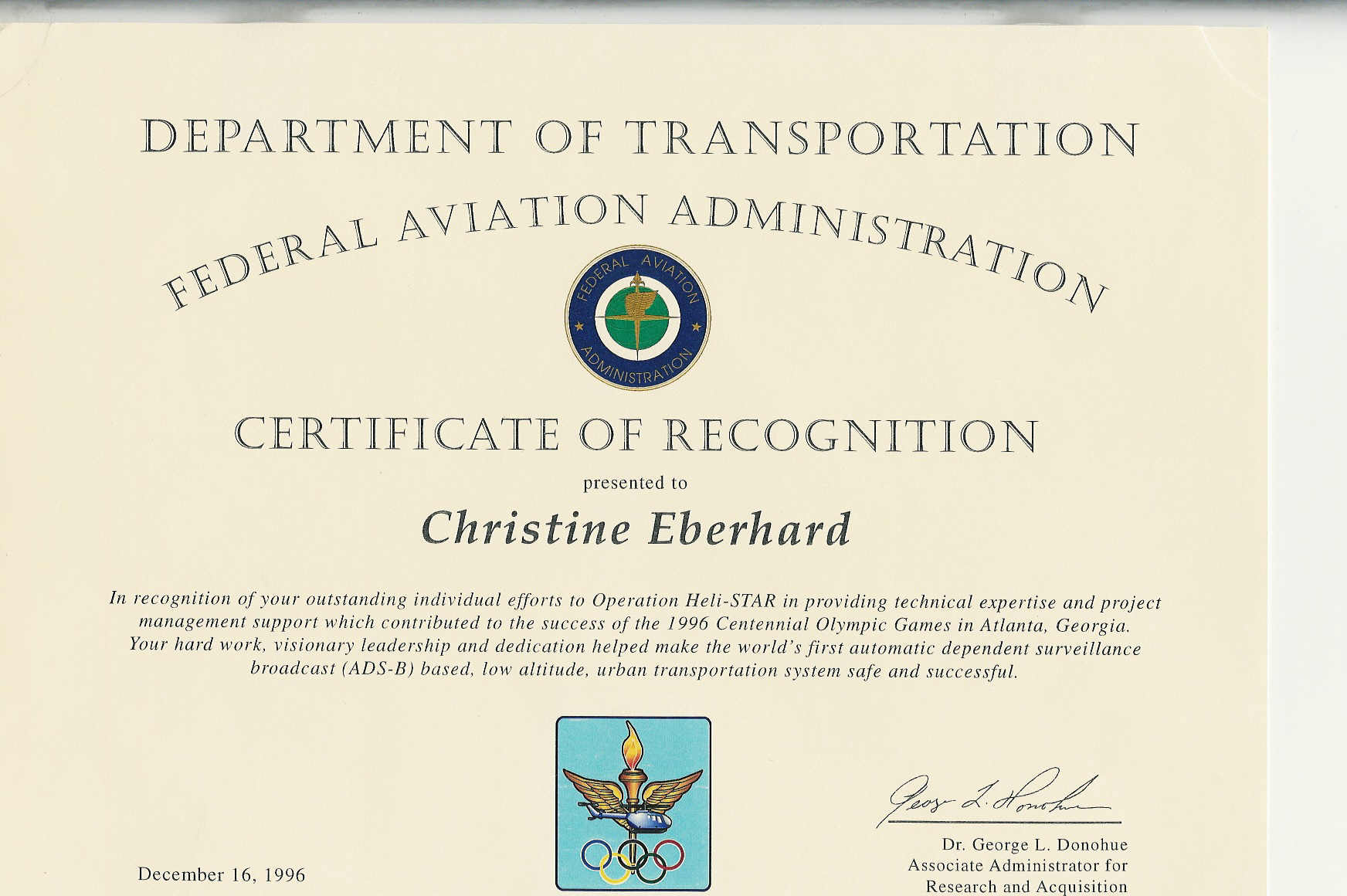 FAA Recognition